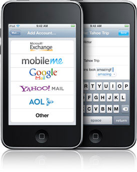 E-mail в Apple iPod Touch / iPhone